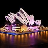 Sungvool Kit de iluminación LED para Lego Lego Creator Expert 10234 Sydney Opera House, juego de luces decorativas de lujo para Lego 10234 (sin modelo Lego)