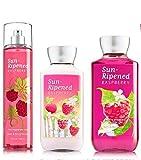 Bath & Body Works ~ Signature Collection ~ Sun-Ripened Raspberry ~ Shower Gel ~ Fine Fragrance Mist & Body Lotion ~ Trio Gift Set