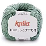 Lanas Katia Tencel-Cotton Ovillo de Color Verde Cod. 11