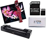Vupoint ST470 Magic Wand Portable Scanner w/Auto-Feed Docking Station (Red) (Renewed)