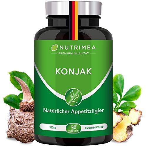 Abnehmen mit Glucomannan aus Konjak Wurzel | Natürlicher Appetitzügler 100% VEGAN | Appetithemmer...