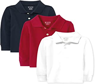 The Children's Place baby-boys Baby And Toddler Boys Uniform Long Sleeve Pique Polo 3-Pack Polo Shirt