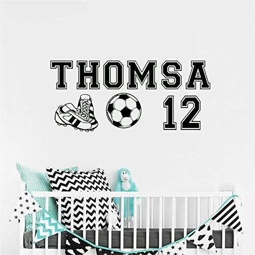 wandaufkleber baum mit fotos Personalisierte benutzerdefinierte Soccer Boys Name und Nummer Wand Dekor Aufkleber Wandtattoo Kinder Schlafzimmer Spielzimmer
