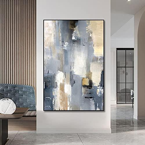 Pintura abstracta moderna de la pared del arte de la lona de la pintura de la lona de la pintura al óleo de la lona imprime las imágenes para la decoración de la sala de estar-60x90