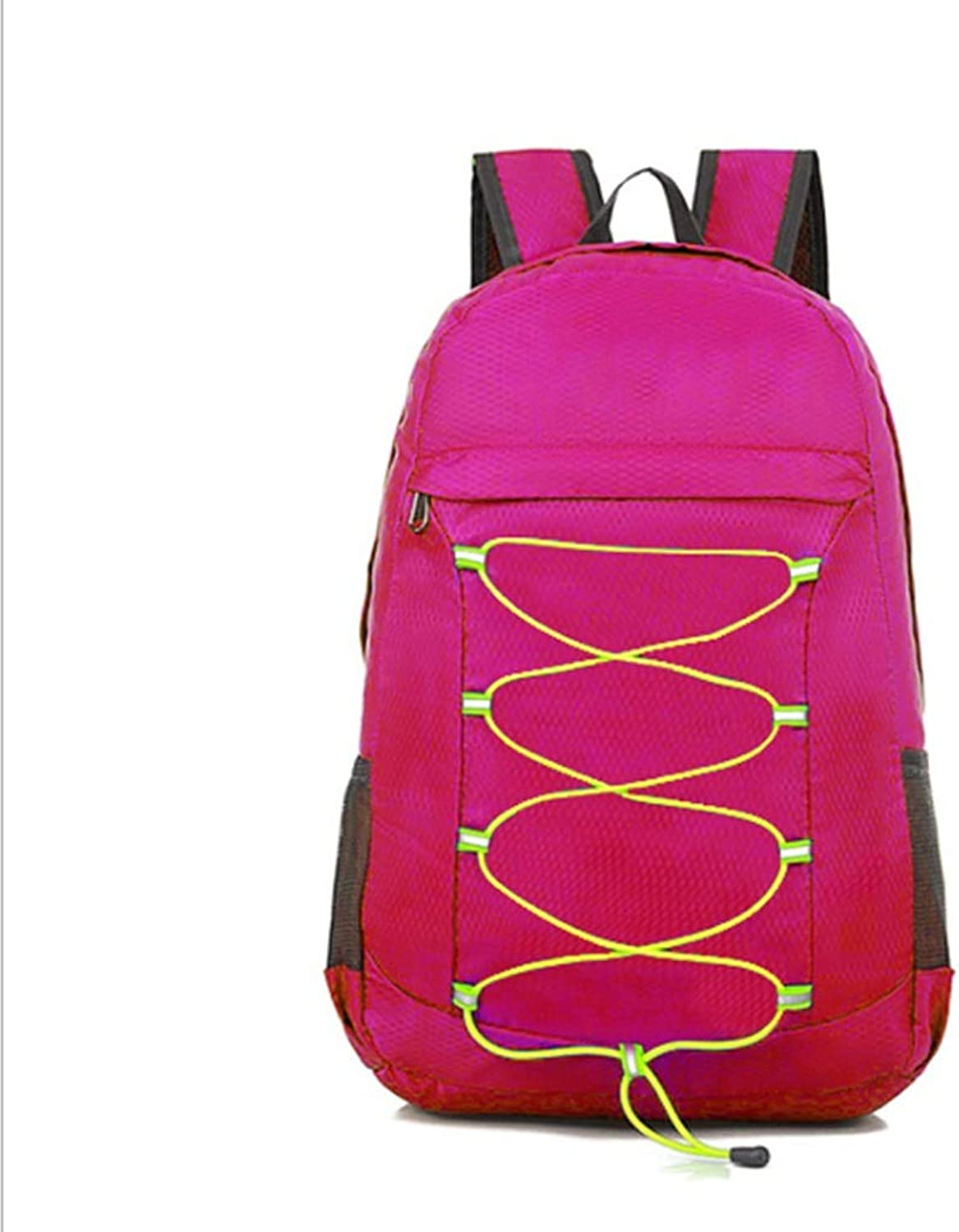 Outdoor Travel Hiking Backpack, Outfit Leisure Travel Folding Bag, Fashion Sports Backpack (color   pink red, Size   OneSize)