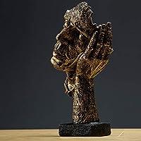 Mei-YY 工芸品 装飾彫刻像沈黙であるゴールド装飾抽象彫刻クリエイティブ工芸のシンプルでモダンなオフィス家具の装飾アートブロンズ 装飾品
