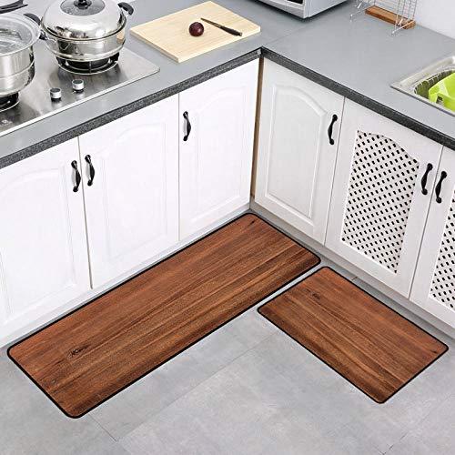 Carvapet - Juego de 2 alfombrillas antideslizantes para cocina (40 x 60 cm + 40 x 120 cm)