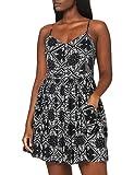 Superdry Damen Amelie CAMI Dress Kleid, Schwarz (Black AOP YFC), S (Herstellergröße:10)