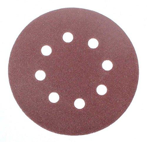 100 Stück Klett-Schleifscheiben Ø 125 mm Körnung 180 für Exzenter-Schleifer 8 Loch