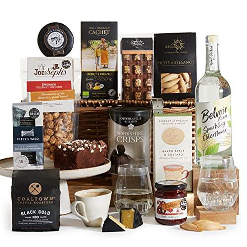 Alcohol Free Hamper - Gourmet Food & Non Alcoholic Drink in A Large Wicker Hamper