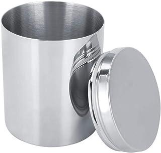 HERCHR Porte-Cigarette, étui à Cigarettes en Acier Inoxydable pour 100 Cigarettes récipient de Stockage de thé en Pot herm...