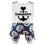 Eve Couture Babykleidung Baby Strampler Junge Mädchen Seemannsherz Anker Rockabilly (50/56)