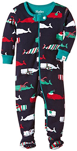 Hatley Baby-Boys' Footed Coverall Retro Ski, Blue,3-6 Months