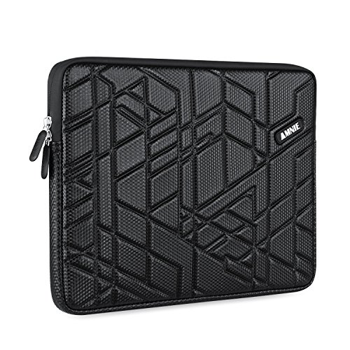 AMNIE 13-13.3 Inch PU Polyester Slow-recovery Sponge Shockproof & Water-resistant Laptop Sleeve Case Bag / Notebook Computer Case / Briefcase Carrying Bag / Ultrabook Laptop Tablet Bag Case, Black