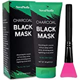 Novapholia Charcoal Black Peel Off Mask for Blackheads with Brush 80g- Purifying Peel Off Mask - Deep Cleansing - For Face & Nose - Anti-Aging, Oil Control, Uneven Skin Tones, Acne