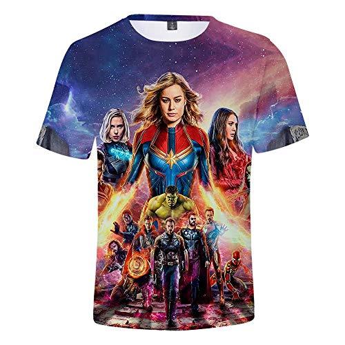 T-Shirt Uomo 3D Tuta Sportiva Quantum Camicia Fitness Supereroe T-Shirt da Running Sportica Elasticizzata ad Asciugatura Rapida T-Shirt da Comic Movie Poster Heroes