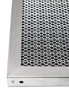 LifeSupplyUSA Replacement Heavy Duty 20x24x1 Aluminum Electrostatic Washable Air Purifier A/C Filter for Central HVAC Conditioner Furnace Systems