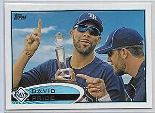 2012 Topps Baseball David Price With Trophy Short Print Variation Card # 80