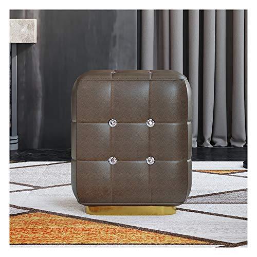 Taburete cuadrado para sofá, taburete de cuero, para sala, zapatero, puerta de casa, color # 3)