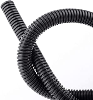 - 10 Feet 5.5mm ID Black 1//4 Flame Retardant Polypropylene Split Wire Loom Tubing
