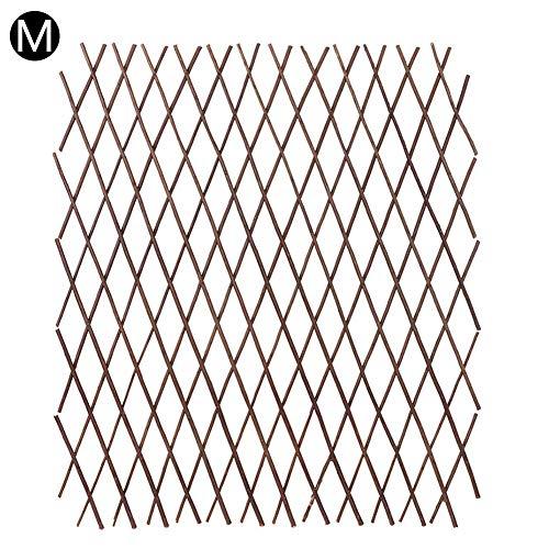Eternitry Teleskop Holzzaun Dauerhafte Pflanze Outdoor Klettergerüst Gitter Blume dekorative Rahmen ist als Wanddekoration, Gartenzaun oder Trennwand