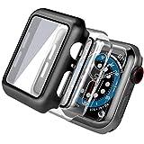 [3 Pack] Funda Apple Watch 40mm Series SE 6 5 4 con Protector de Pantalla Cristal Templado, PEMOTech iWatch Case Protección Completo Anti-Rasguños Ultra, para Nueva Apple Watch Series SE 6 5 4 40mm