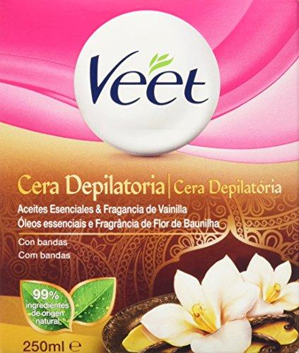 Cera Tibia Depilatoria, Veet Naturals Para Piel Normal, Accesorios y Tarro de 250 ml
