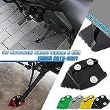 AHOLAA Soporte de Lateral Pie para Motocicleta,Accesorio de Soporte de Ampliación de Aluminio CNC para Kawasaki VN650 Vulcan S 650 EN650 2015 2016 2047 208 2019 2020 2021 (Negro)