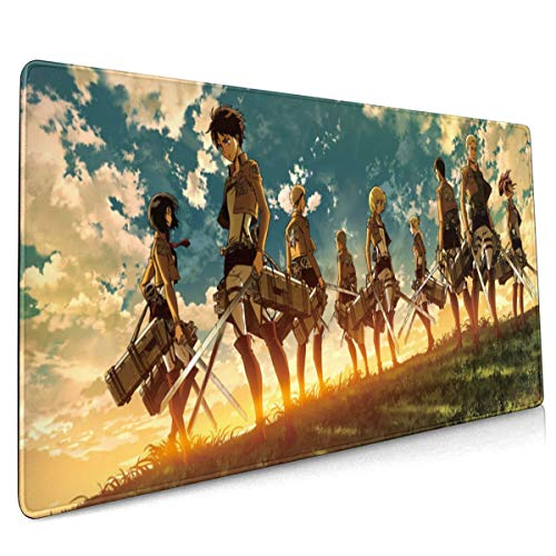 Attack On Titan Mikasa Ackerman Mouse Pad 15.75 X35.45 in Japan Anime Mouse Mat Gaming Mouse Pad (40x90cm)