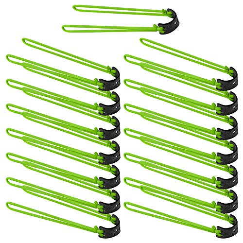 Jubaopen 15PCS Tirachinas Gomas Tirachinas Gomas Elasticas Tubo de Elásticos Catapult Bandas de Goma para Tirachinas Práctica de Tiro al Blanco de Caza al Aire Libre(Verde)