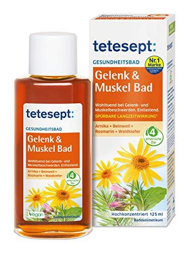 tetesept Gelenk & Muskel Bad – Wohltuendes Gesundheitsbad mit ätherischem Öl, 125ml