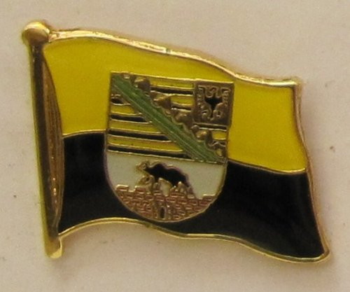 Pin Anstecker Flagge Fahne Sachsen-Anhalt Landesflagge Flaggenpin Badge Button Flaggen Clip Anstecknadel