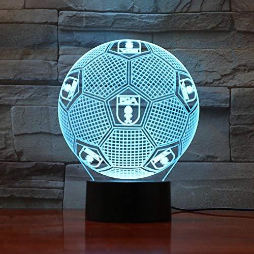 3D Nachtlicht Augsburg Fußball Illusion Tischlampe LED 7 Farbe Touch Fernbedienung Farbe Stimmung Lampe Hause Schlafzimmer Nachttischlampe