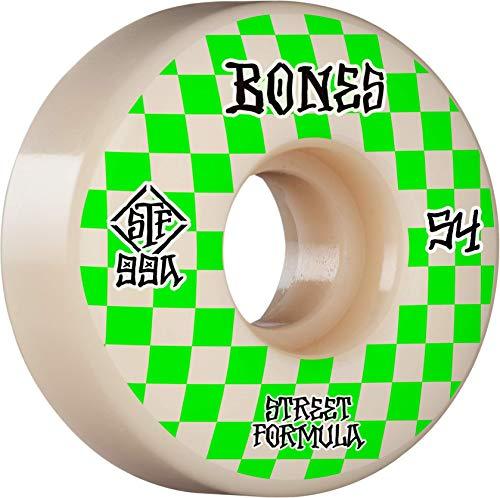 BONES WHEELS Bones Patterns STF 99A 54mm Slims, White (WSCAESL015499W4)
