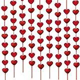 18metros 9 Guirnaldas Colgantes Corazones Plástico Decoración Adorno Boda Fiesta San Valentín Navidad Bautizo Techo Ventana Puerta Largo 2metros