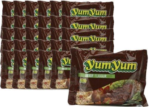 30 x 60g Instant Nudeln mit BEEF / RINDFLEISCH Geschmack YumYum
