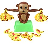 QJJ Juego de niños Juego Adición y Subtraction Puzzle Monkey Digital Banana Balance Fun Mathematics Padre-niño Interactive Juego Educación temprana Juguetes (Size : B)