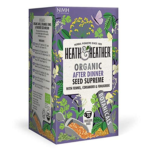 Heath & Heather Infuso Biologico Digestivo con Semi di Finocchio e Coriandolo Senza Caffeina - 1 x...