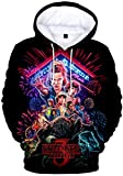 FLYCHEN Sudadera Stranger Things 3 New Season para Niñas 3D Impreso Digital Select Your Character Portrait de Manga Larga Pullover - Grupo 3664 - XS