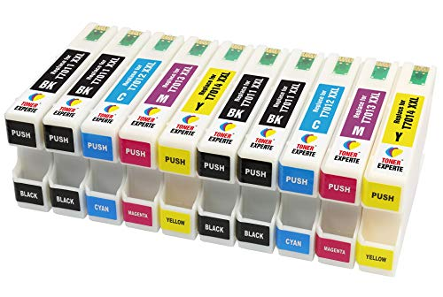 TONER EXPERTE® 10 XXL Cartucce d'inchiostro compatibili con Epson T7011 T7012 T7013 T7014 WorkForce Pro WP-4015 WP-4025 WP-4095 WP-4515 WP-4525 WP-4535 WP-4545 WP-4595   Alta Capacità (3400 pagine)