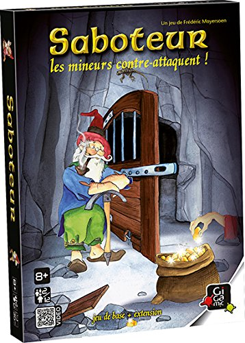 Gigamic - AMMIN - Jeu de Cartes - Saboteur 2 : les Mineurs Contre-Attaquent