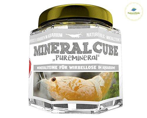 NatureHolic - MineralCube 'Pure Mineral' – Mineral Steine für Garnelen, Schnecken und Krebse im Aquarium – 47 ml
