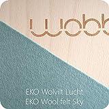 Wobbel XL Balanceboard transparent lackiert Sky blau yogaboard -