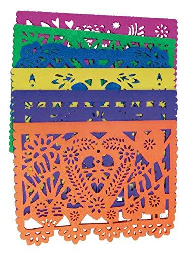 Mantelitos con diseño de Papel Picado (Juego de 6 piezas)