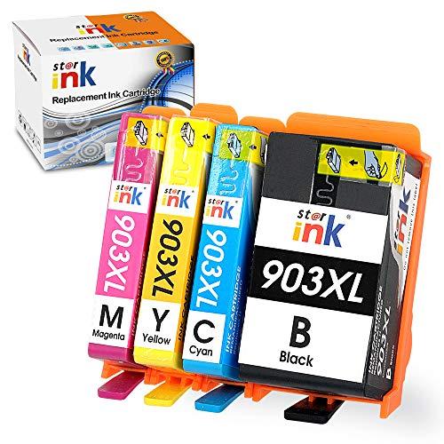 Starink 903XL - Cartuchos de tinta compatibles con HP 903XL 903 XL, repuesto para impresora HP OfficeJet Pro 6950 6970 6960 (negro, cian, magenta, amarillo) 4 unidades