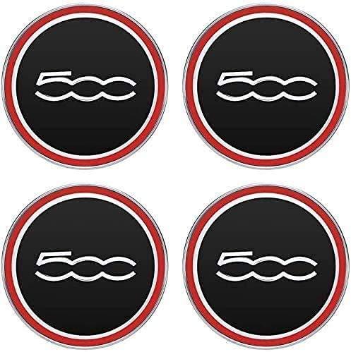 4 PCS Auto Center Hub Caps para Fiat 500, 60mm Wheel Center Logo Badge Stickers Accesorios de decoración de modelado de neumáticos
