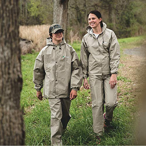FROGG TOGGS Women's Ultra-Lite2 Waterproof Breathable Protective Rain Suit, Khaki, Large