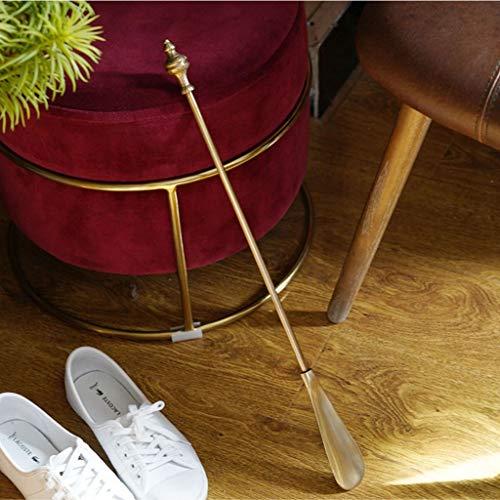 Zylxnt Hand Retro reines Kupfer Messing Schuhanzieher Erwähnung Schuhe zu Hause Veranda (Size : 20.47in)