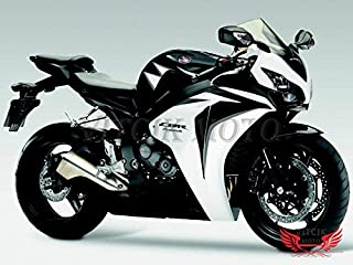 VITCIK (Fairing Kits Fit for Honda CBR1000RR 2008 2009 2010 2011 CBR1000 RR 08 09 10 11 Plastic ABS Injection Mold Complete Motorcycle Body Aftermarket Bodywork Frame (Black & White) A031