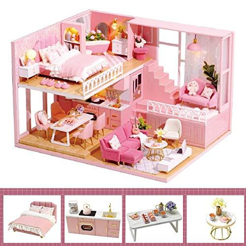 Lorenory Casas de muñecas DIY Casa de Madera con la